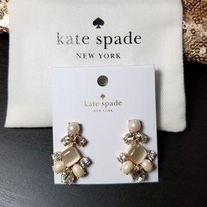 Kate Spade ivory dangly earrings